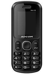 Adcom X2 Hero Dual Sim Mobile - Black & Red