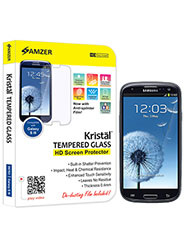 Amzer Kristal Tempered Glass HD Screen Protector For Samsung GALAXY S3 Neo GT-I9300I, Samsung GALAXY S III GT-I9300