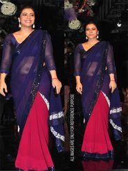 Arisha Georgette Embroidered Saree - Red And Purple