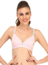 Clovia Cotton Blend Solid Bra -BB0002P22