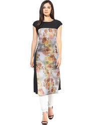 Bhuwal Fashion Printed American Crepe Multicolor Kurti -Bfbm10014