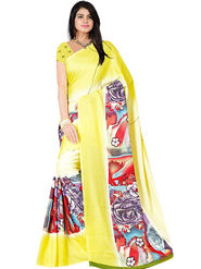 Bhuwal Fashion Plain Faux Georgette Multicolor Saree -Bfsun5001