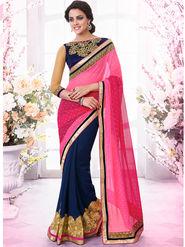 Bahubali Georgette Embroidered Saree - GA.50405