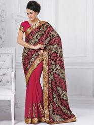 Bahubali Brasso Embroidered Saree - Multicolor - GA.50208