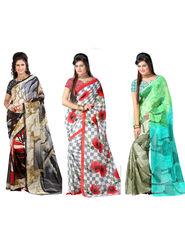 Combo of 3 Arisha Georgette Printed Saree -CMBS17
