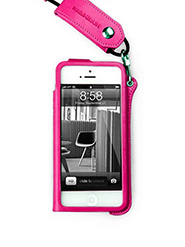 Callmate Ultra-Thin Hang Rope Strap Back Cover for iPhone 4/4S- Dark Pink
