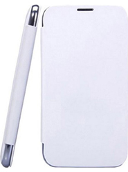 Camphor Flip Cover for Micromax A200 - White
