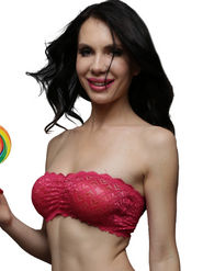 Clovia Blended Plain Bra - Hot Pink - BR0111C14