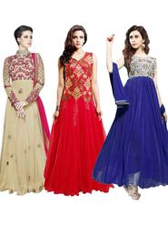 Pack of 3 Thankar Designer Semi Stitched Suit-tha01