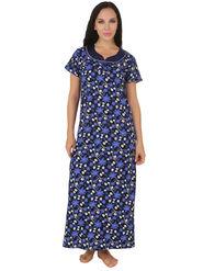 Fasense Shinker Cotton Floral Print Nightwear Long Nighty -DP159C1