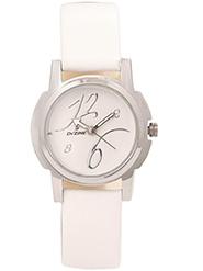 Dezine Wrist Watch for Women - White_DZ-LR008-WHT-WHT