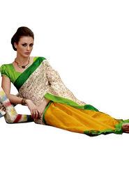 Ethnic Trend Cotton Printed Saree - Multicolour - 10025