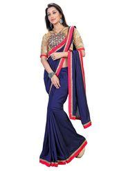 Khushali Fashion Kashmiri Art Silk Saree(Navy Blue)_ETH5997