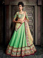 Viva N Diva Pure Soft Net And Georgette Embroidered Lehenga -Ehsaas-603