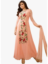 Fabfiza Embroidered Georgette Semi Stitched Anarkali Suit_FBLT-88006