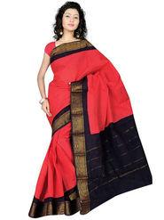 Nanda Silk Mills Embroidered Cotton Saree_FEMINA4050