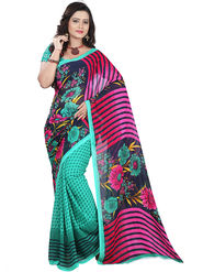 Florence Faux Georgette  Printed  Sarees FL-10961