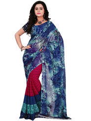 Florence Faux Georgette  Printed  Sarees FL-11007