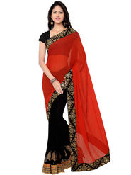 Florence Embroidered  Chiffon Sarees -FL-11193