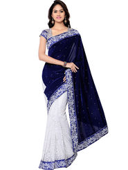 Florence Embroidered  Velvet Sarees -FL-11205