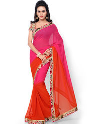 Florence Embroidered Faux Georgette  Saree -FL-11752