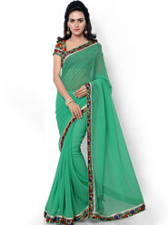 Florence Embroidered  Faux Georgette  Saree -FL-11754