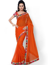 Florence Embroidered  Faux Georgette  Saree -FL-11755