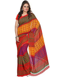 Florence Faux Georgette  Printed  Sarees FL-3171-B