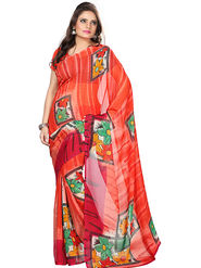 Florence Faux Georgette  Printed  Sarees FL-3177-C