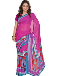 Florence Faux Georgette  Printed  Sarees FL-3187-A