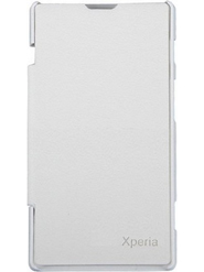 Flashmob Flip Cover for Sony Experia M2 - White
