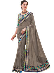 Indian Women Embroidered Georgette Saree -Ga20218