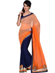 Shonaya Embroidered Faux Georgette Sarees -Hiimx-6022
