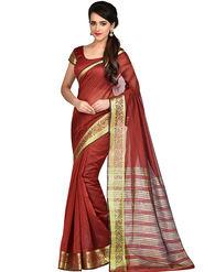 Shonaya Woven Banarasi Art Silk Sarees -Hikbr-Banarsi-5-Red