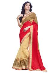 Branded Chinon Silk Printed Saree -HT70105