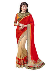Branded Silk Jacquard Printed Saree -HT70111