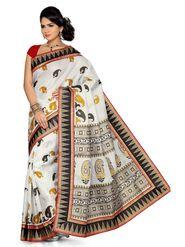 Ishin Bhagalpuri Silk Printed Saree - Multicolour-ANCL-1546