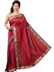 Ishin Bhagalpuri Cotton Printed Saree - Red - ISHIN-2412
