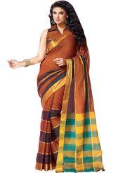 Ishin Cotton Plain Saree - Multicolor - MFCS-Victoria