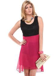 Kaxiaa Georgette Plain Dresses -K-1068I