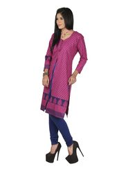 Arisha Cotton Printed Kurti KRT6084-Pnk
