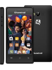 Kestrel KM-401 - Black 4-inch Android Kitkat with 5 MP Camera,3G Mobile