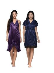 Set of 2 Klamotten Satin Solid Nightwear - X131-67