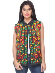 Lavennder Khadi Embroided Summer Jacket -LJ-24109