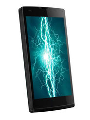 Lava Iris Fuel 60 Black, 5 Inch HD Screen with Corning Gorilla Glass 3 Protection, 10 MP Camera with BSI-II Sensor technology, Quad Core Processor, 1GB RAM+8GB ROM, 4000 mAh Battery