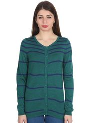 Levis Green Striped Woolen Sweater -os10