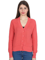 Levis Peach Solid Woolen  Sweater -os12