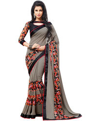 Nanda Silk Mills Cute Work Printed Saree With Blouse Piece Pure Georgette _MK-2402