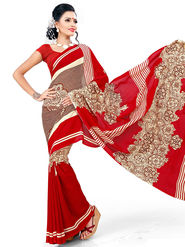 Nanda Silk Mills Fancy Latest Printed Excluesive Georgette Saree With Unstitch Blouse _MK-Crystle-1012