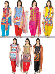 Manasvi Set of 7 Printed Dress Material (7P1) - AKSO